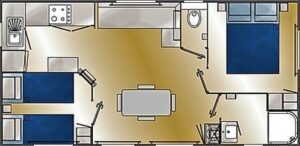 Plan mobil home Louisiane Savanah