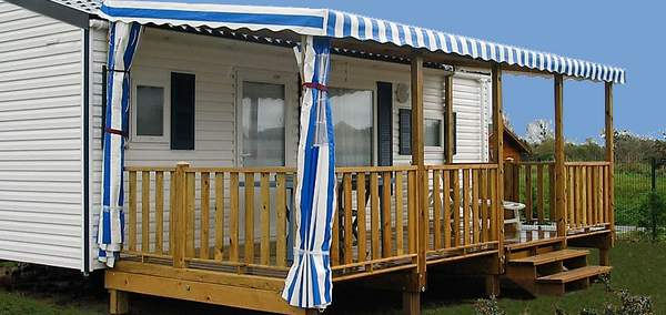 Terrasse mobil home simple