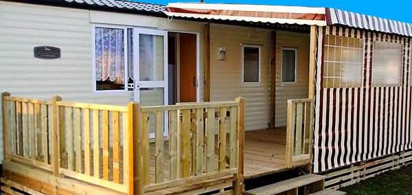 Bâches mobil home pour terrasse semi couverte